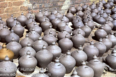 Pottery in the Town Square, Bkaktapur, Nepal.