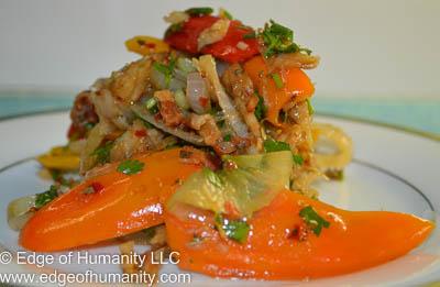 Salted Cod Fish Salad