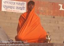 Man Meditating  - Ganges River in Varanasi India
