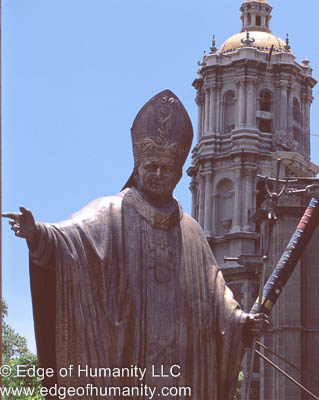 Pope John Paul II - Mexico City, Mexico.