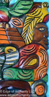 Painted wood mask - Guatemala