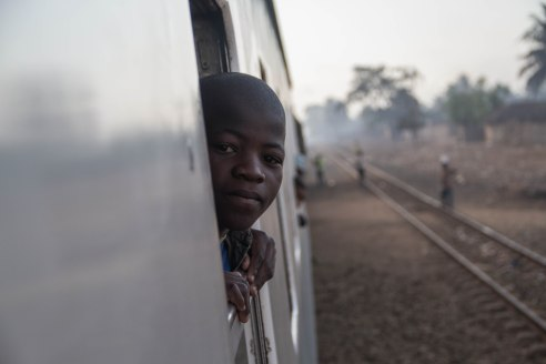 Riding the rails from Nampula to Cuamba, Mozambique