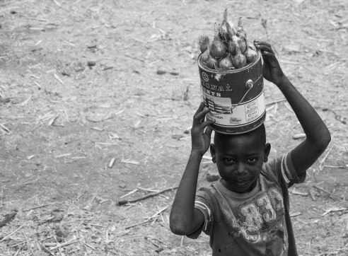 Selling onions on the Nampula to Cuamba line, Mozambique