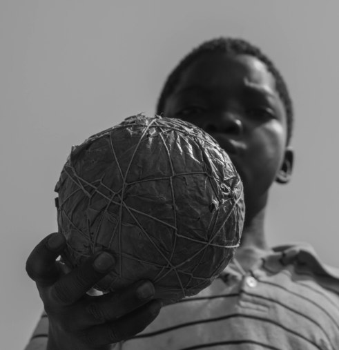 A homemade football, Livingstonia, Malawi
