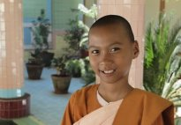 Buddhist Nun, Soon U Ponya Shin Paya, Sagaing, Myanmar