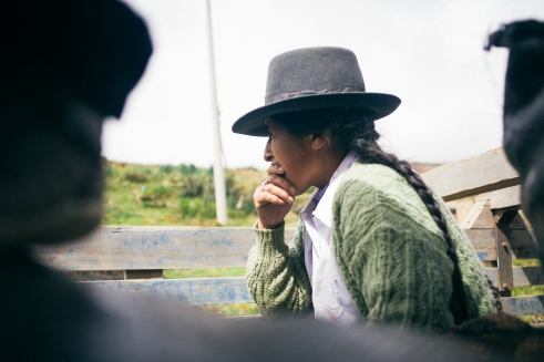 Alfonso's mother, in deep thoughts | On the road to Cuzco | 19th of may, 2014
