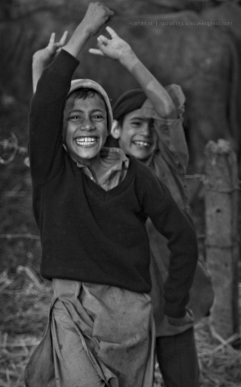 At the same buffalo shed in Punjab, these kids were dancing in front of my camera to photo bomb. I just snapped a shot without caring much but later on when I checked the image over computer it resonated happiness - India.