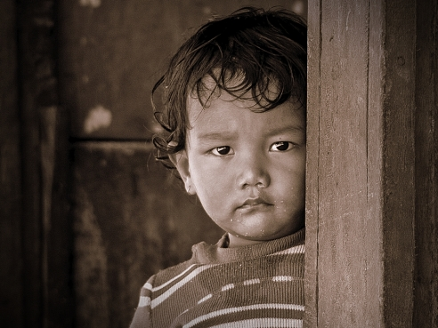 Around 4 years back when I was returning from Poon Hill trek, I met this kid at chai shop - Nepal.