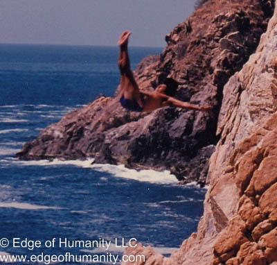 Cliff diver - Acapulco, Mexico.