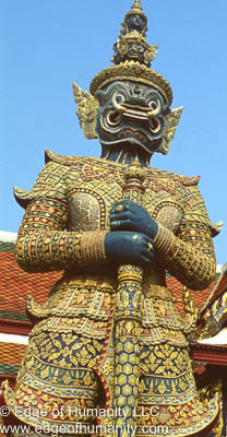 Details of the Grand Palace Bangkok, Thailand.
