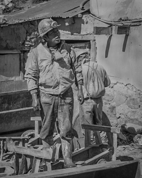 Miners - Potosi Mines, Cerro Rico, Cerro de Potosi, Bolivia