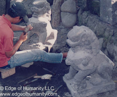 Stone carver - Indonesia.
