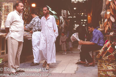 Shopkeepers waiting for customers - Cairo, Egypt.