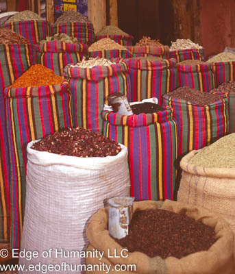 Egyptian spice and food market.