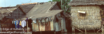 House at the Mekong River, Vietnam.