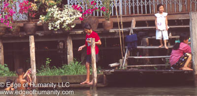 Around Damnoen Saduak Floating Market in Thailand