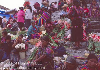Flower market, Guatemala.