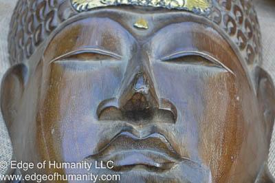 Wood carved Thai mask