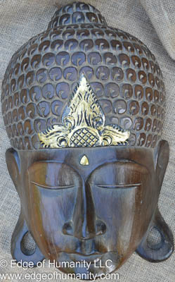 Wood carved Thai mask