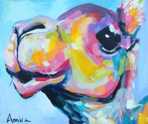 """Camel Mini"" Acrylic on canvas."