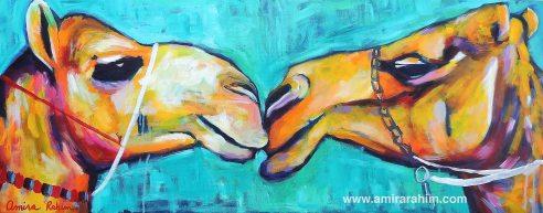 """First Kiss"" acrylic on canvas."