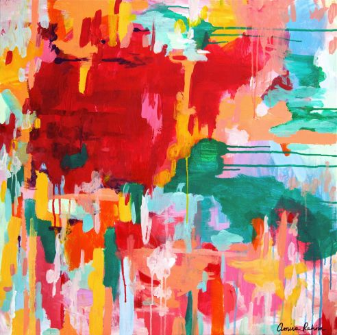 """Happy Not Hippy"" Acrylic on canvas."