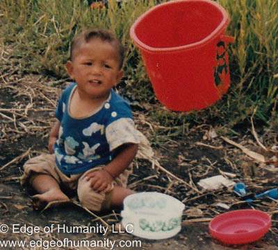 Child in Indonesia.