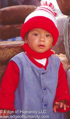 Child in Nepal.