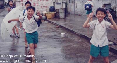 Children in Hong Kong.