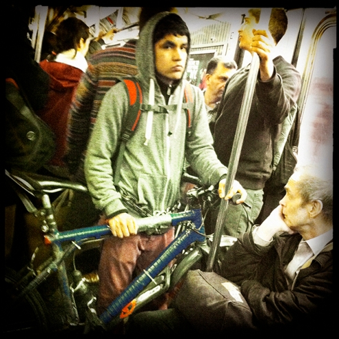 Bicycle New York City Subway