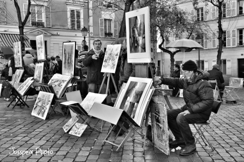 The painters of Montmartre - Place du Tertre