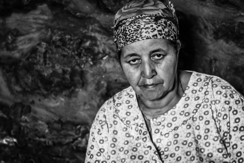Local  woman working at Argan Museum - Morocco