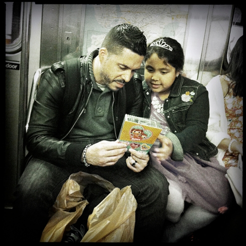 Father&Daughter New York City Subway