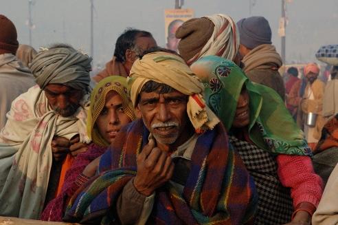 Pilgrims in Kumbh Mela at Allahabad.