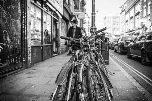 Saddle<br />    Bikes<br /> Brick Lane, London