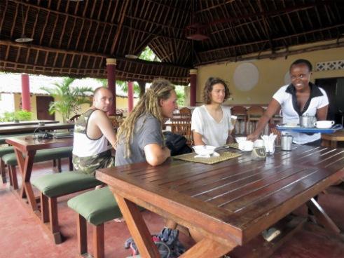 """The last restaurant open in the """"Bazaar"""" food court, Diani Beach"""