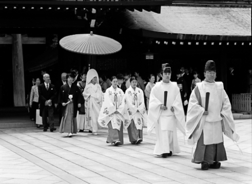Wedding at the Meijijingu Shrine, Japan