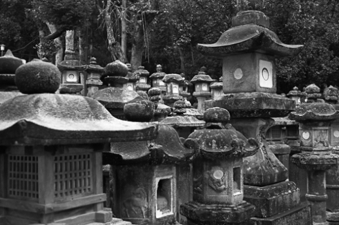Lanterns of Kasuga Taisha Shrine in Nara Park, Nara.