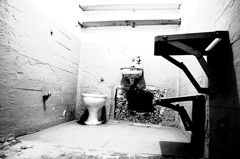 Alcatraz in black white photo essay