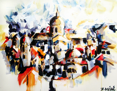 Dubrovnik panorama ( acrylic on canvas )