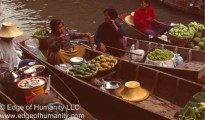 Damnoen Saduak Floating Market in Thailand.