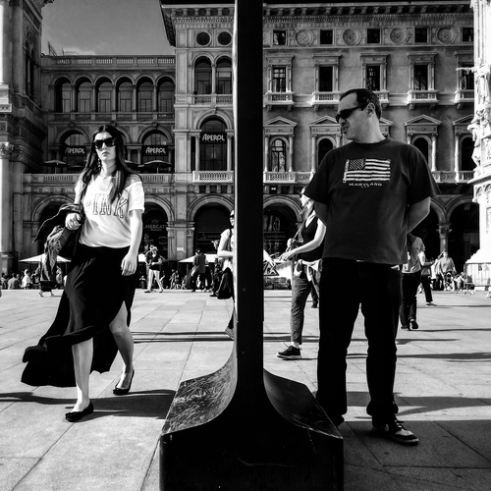 She's not coming Piazza Duomo, Milan, Italy