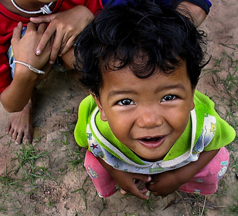 Village child - The wonderment in this little girls eyes always leaves me smiling. Sanom village, East Thailand (near the Cambodian border).