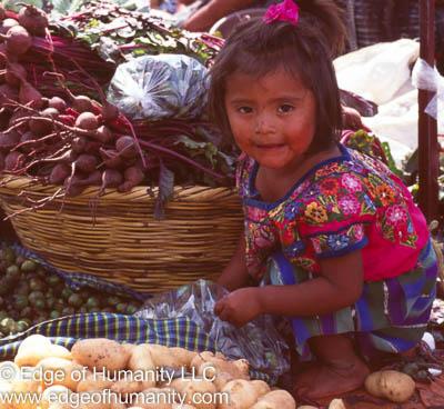 Child & Potatoes Guatemala