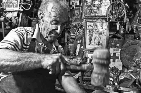 """Brass worker in Sicily"" Sicily,Italy"