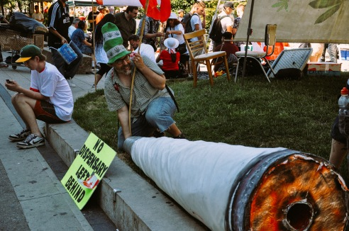 Cannabis Day Protest Vancouver Art Galley Vancouver BC Canada