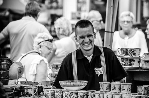 Street market salesman - Kristianstad, Sweden