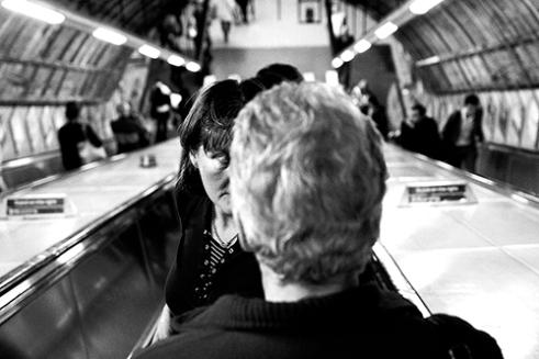 Escalator Tube Station, Tottenham Court Road, London, UK