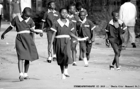 """Going to school"" Benin City, Nigeria"