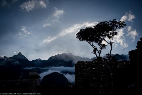 The spiralling mists of Machu Picchu